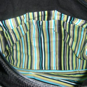 Three elasticated pockets to hold nappies or bottles...