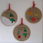 Some hoops that I sewed for Christmas last year.